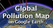 Pollutan Map on Google Earth