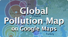 Pollutan Map on Google Maps